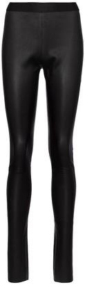 Ann Demeulemeester High-rise nappa leather leggings