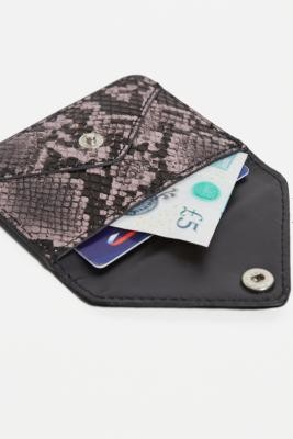 Urban Outfitters Snake Envelope Cardholder Wallet - Blue ALL at