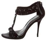 Elizabeth and James Embellished Multistrap Sandals