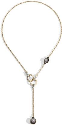 Pomellato Nudo 18K Obsidian & Black Diamond Lariat Necklace
