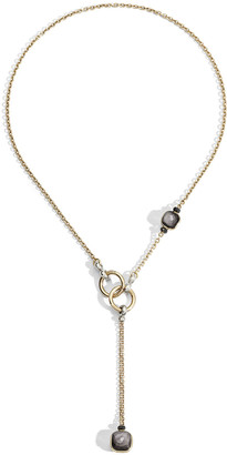 Pomellato Nudo 18K Obsidian & Black Diamond Lariat Necklace