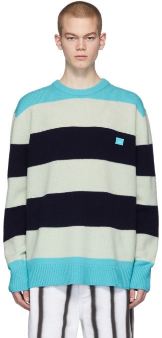 Acne Studios Multicolor Oversized Striped Sweater