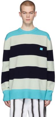 Acne Studios Multicolor Oversized Striped Sweater