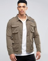 Brave Soul Badged Shacket Jacket