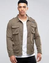 Brave Soul Badged Shacket Jacket