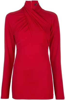 Isabel Marant Twisted-Neck Long Sleeved Top