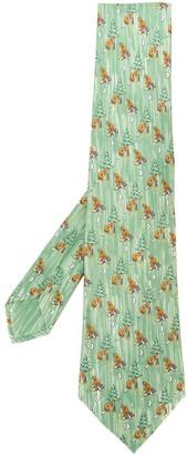 Hermes 2000s Pre-Owned Beaver Pattern Tie