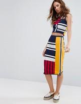 Tommy Hilfiger Gigi Hadid Patchwork Print Bodycon Skirt