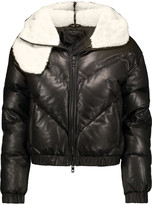 Rag & Bone Compass shearling-trimmed quilted leather hooded coat