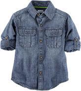 Carter's Roll-Tab Sleeve Button-Front Shirt Boys