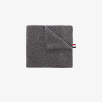 Thom Browne Grey 4-bar stripe cashmere scarf