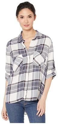Bella Dahl Split Back Button Down (Glacier Point) Women's Clothing
