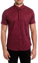 7 Diamonds Men's Crystal Film Woven Shirt