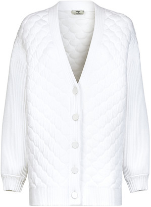 Fendi White Quilted Cardigan