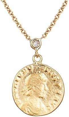 Ariana Rabbani 14K Diamond Roman Coin Necklace