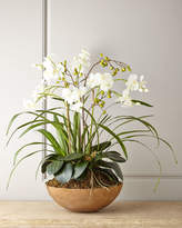Horchow Faux Moth Orchid in Planter