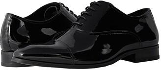 Florsheim Tux Cap Toe Oxford (Black Patent) Men's Lace Up Cap Toe Shoes