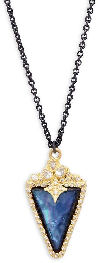 Armenta Women's New World Diamond & Gemstone Quartz Doublet Kite Pendant Necklace