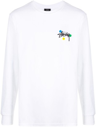 Stussy Dot Collage long-sleeved T-shirt