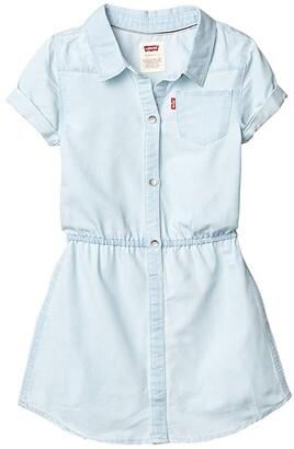 Levi's Kids Short Sleeve Western Dress (Little Kids) (Mellow Breeze) Girl's Dress