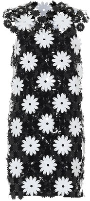 Paco Rabanne Flower PVC minidress