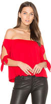 Susana Monaco Issa Top in Red. - size M (also in S,XS)