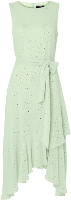 Wallis Mint Glitter Tiered Midi Dress