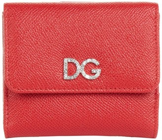 Dolce & Gabbana Leather Logo French Flap Wallet
