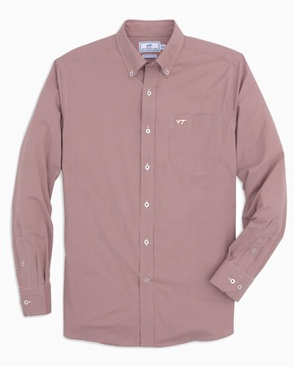 Southern Tide Virginia Tech Hokies Gingham Button Down Shirt