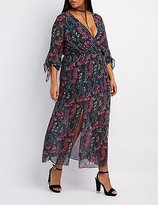 Charlotte Russe Plus Size Floral V-Neck Maxi Dress