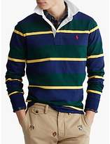 Polo Ralph Lauren Stripe Rugby Shirt, College Green Multi
