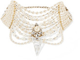 Erickson Beamon Swan Lake Gold-plated, Faux Pearl And Swarovski Crystal Choker - one size