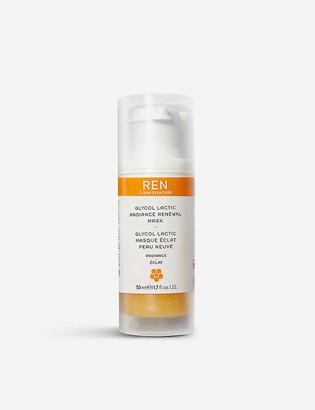 REN Glycol Lactic Radiance Renewal Mask 50ml