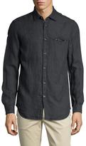 Diesel S-Asak Linen Spread Collar Sportshirt