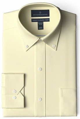 Buttoned Down Amazon Brand Men's Tailored Fit Button-Collar Pinpoint Non-Iron Dress Shirt