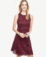 Ann Taylor Tall Lace Flare Dress