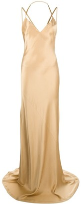 Haider Ackermann Silk Fitted Maxi Dress