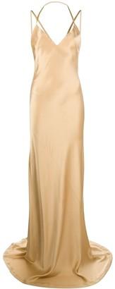 Haider Ackermann Silk Fitted Maxi Dress