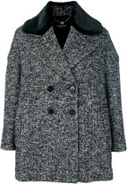 Twin-Set peaked lapels double-breasted coat - women - Cotton/Acrylic/Polyamide/Wool - 40