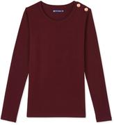 Petit Bateau Womens long-sleeved light cotton T-shirt