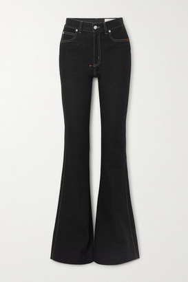 Alexander McQueen High-rise Flared Jeans - Black
