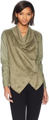 Blank NYC Women's Drape Front Jacket Outerwear
