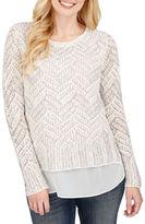 Lucky Brand Chevron Knitted Mohair Blend Top