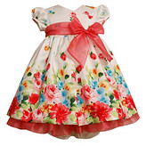 Bonnie Jean Baby Girls' Coral/White Floral Dress