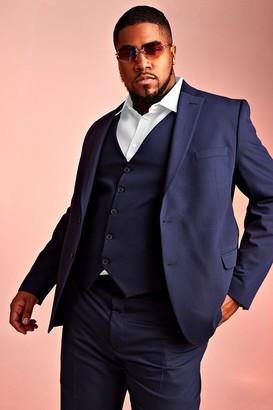 BoohoomanBoohooMAN Mens Navy Big & Tall Skinny Fit Suit Blazer, Navy