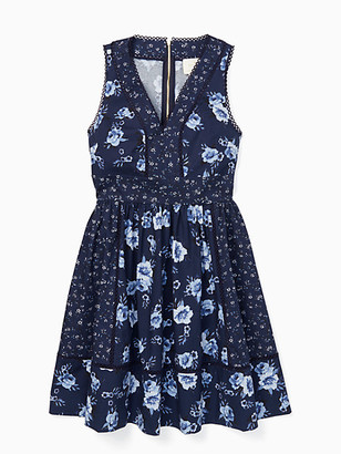 Kate Spade Out West Prairie Rose Fit And Flare Dress