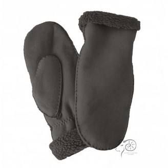 Eastern Counties Leather Womens/Ladies Full Hand Sheepskin Mittens (One size) (Black)