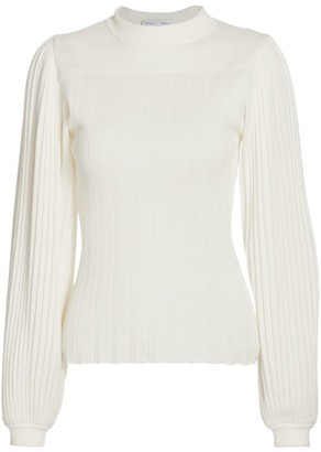 Proenza Schouler White Label High-Neck Pleated Knit Top