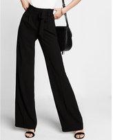 Express high rise paper bag waist wide leg pants