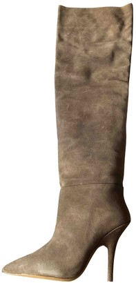 Yeezy Beige Leather Boots